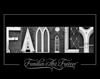 Alphabet Photo Letter Art - Letter Photography - LDS art - 11x14 Family Letter Art Print