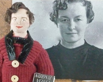 Enid Bagnold Author of National Velvet Doll Miniature Collectible Art