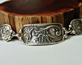 silver bracelet lotus four elements universe toggle