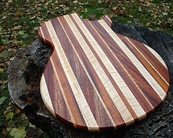 Personalized Laser Engraved Groomsmen Gift Qty 6 Guitar Shaped Cutting Boards Serving Trays - Custom Engraved Wedding Gift Wholesale