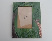 Giraffe Picture Frame Painted Giraffe Picture Frame