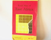 Vintage Map East Africa Map Road Map Folding Map Shell Touring Map