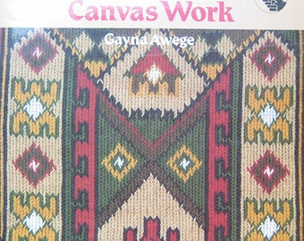 Kelim Canvas Work Pattern Book by Gayna Awege