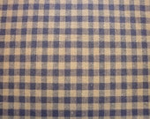 Homespun Fabric Blue Medium Check 35 x 44