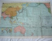 Vintage Map of The Pacific Ocean, Southeastern Asia, and Australia - Map No. 9562 - American Map Company, Inc. - Cleartype
