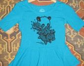 Cute Panda Zebra Junior  t shirt with Peplum ramen women's clothing