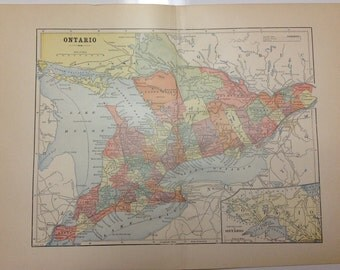 Antique 1897 Ontario Map