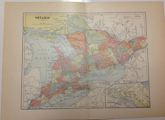 Antique 1897 Ontario Map