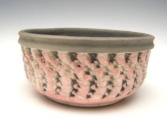 Succulent planter pink raku Contemporary cactus planter pot bonsai planter ceramic pottery planter herb planter  7 x 3 1/4  F-6