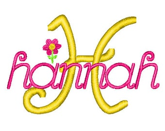 No. 27 Monogram Font Embroidery Designs (1, 1.5, 2, 2.5, 3, 3.5, 4in) INSTANT DOWNLOAD hus jef pes