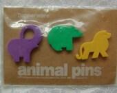 Vintage Animal Pins by Tupperware 1993