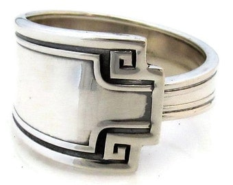 Etruscan Sterling Silver Spoon Ring Mens Size 6-12