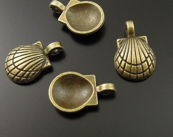 Bronze Sea Shell Charm-  Wholesale lot of 60