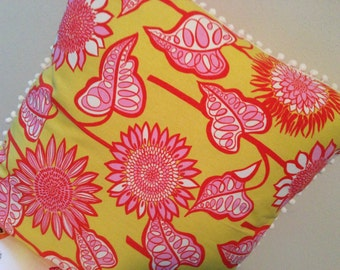 Floor Pillow Pouf Citron Pink Pizazz