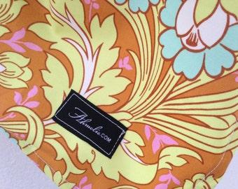 Amy Butler Temple Tulips Cinnamon Baby Blanket Flannel Light Swaddler