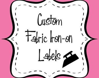 Custom Fabric Iron-On Labels