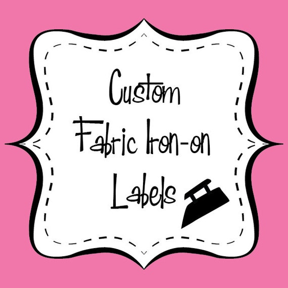 Custom Fabric Iron-On Labels