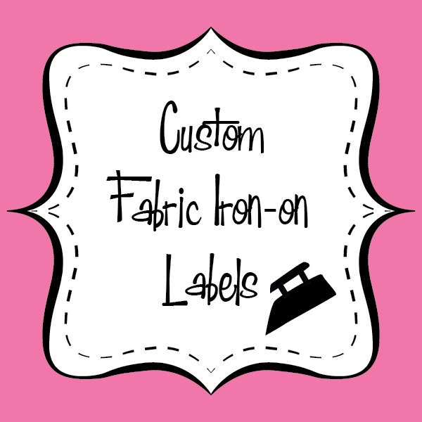 It is a picture of Old Fashioned Custom Iron on Clothing Labels