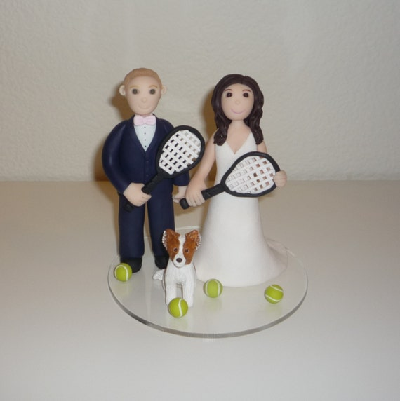 tennis wedding cake topper custom wedding cake topper tennis soccer sign 20798