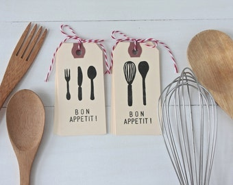 Bon Appetit Tag Set of 10