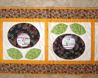FLORAL SELVAGE Table Runner Quilt from Quilts by Elena  Perfect Gift for the Fabric Lover Selvages