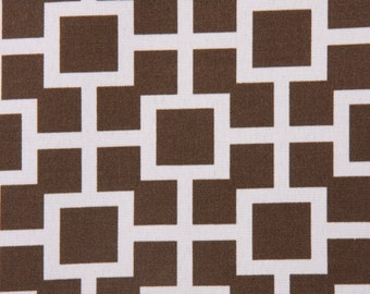 LATTICE TABLE LINENS - Table Runners, Napkins, or placemats,  Modern Geometric, lattice, brown and white, Wedding, Bridal, HOme decor