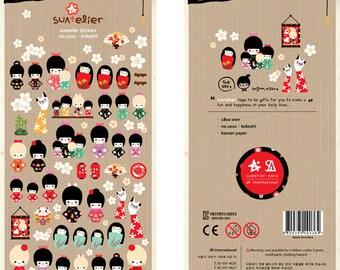 Paper Stickers (P185.12 - Kokeshi)