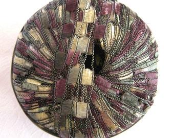 Ladder Ribbon Yarn, PROVENCE,  lavender green gold cream trellis yarn, Maxi 122