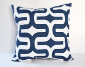 Blue Pillow Cover Decorative Pillows Throw Pillows Navy blue Pillow Nautical Pillow Cushion Cover 8 Sizes Available