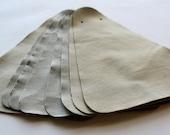 Set no3 8 pcs Leather Samples  scraps Taupe Tan