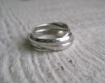Sterling Silver Trio Ring- Everyday Jewelry, Simple, Modern