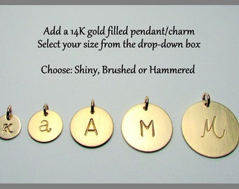 Gold Initial Charm | Hammered Letter Charm | Brushed Gold Charm | Personalized Gold Name Charms