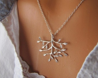 Silver Tree Necklace -Sterling Silver Nature Inspired Jewelry