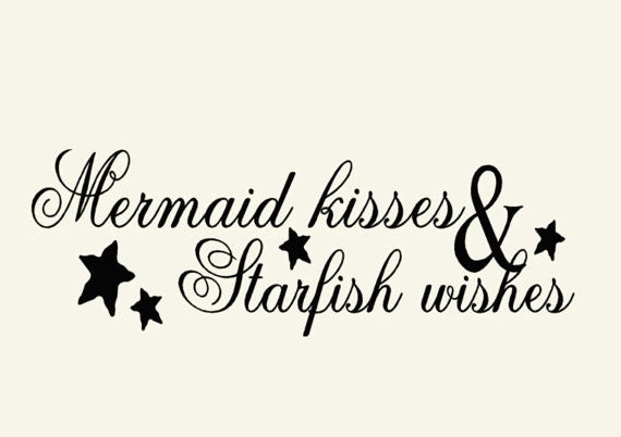 Sea Wall Decal Mermaid Beach Decor Wall Decal Word Quotes