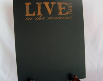 Chalkboard Sign with Easel - Live Simply - Item E1490