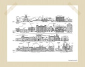 Printable 8 x 10 Vintage London Travel Print Buckingham Palace Grounds Victoria Westminster Abbey London Print City Print Black White