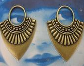 Brass Ox Plated Ornamental Drop 501BOX  x2