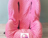 Toddler Cover- Easy on & Easy Off in Bubble Gum Pink Minky