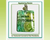 How to Apply Resin Tutorial- Applying Resin to Polymer Clay Pendants- PDF Lesson- Resin Tutorial