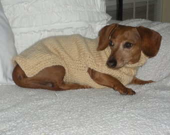 Small Dog Sweater, PDF PATTERN, Mini Dachshund, Doxie Sweater