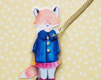 OLiVe FoX - LaMiNaTeD PaPeR NeCkLaCe #3