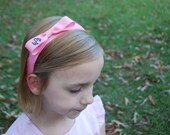 Put a Bow On It Bow Band Embroidered Monogram Ribbon Boutique Hair Bow Headband