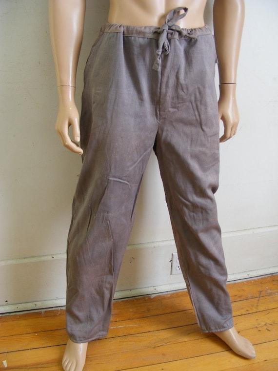 Men's Yoga pants Herman's Eco Org Cotton Org. dyed Blk Walnut Large X 33 drawstring Pants KEUTjuLU