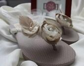 NEW DESIGN Champagne Toast Bridal Flip Flops for Weddings