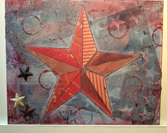 Patriotic Star Collage Red 1