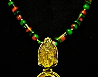 Nepali Double Jelly Buddha Necklace