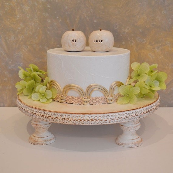 Rustic Apples Wedding Cake Topper...At Last Apples...vintage