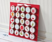 Christmas Advent Calendar with Magnet Board