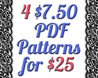 4 PDF 7.50 Dollar Digital Sewing Patterns For Only 25 Dollars Deal