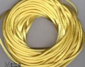 Satin Cord - Rayon Rattail 12 yards, Maize yellow  (Made in USA)